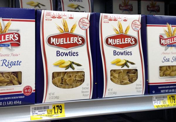 Mueller's Pasta Redesign by PKG