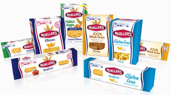 Mueller's Pasta full product line design by PKG