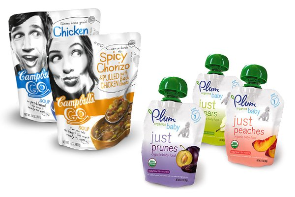 Plum Foods and Campbell's Go Soup - The Pouch Food Trend