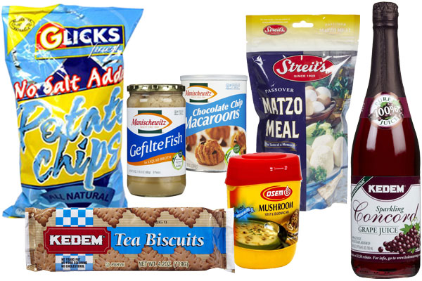 A collection of Jewish food brands