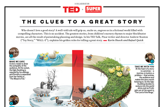 Andrew Stanton's Golden Rules of Story Telling from TED Blog