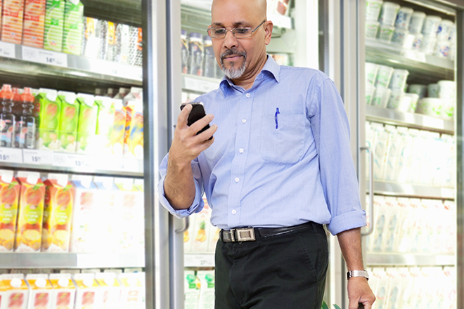 Consumers are using their mobile phones while shopping in order to search for outside opinions